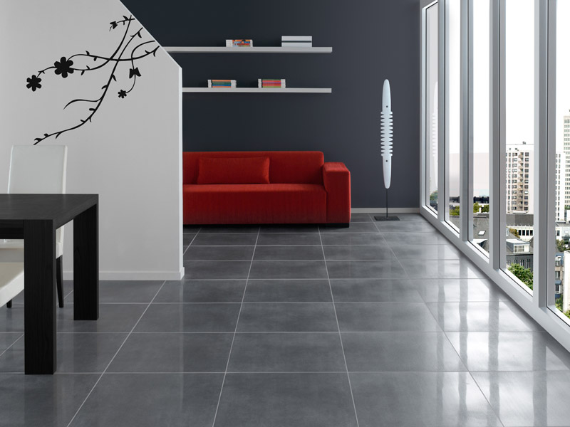 Carrelage 60x60 gris rectifi for Cuisine carrelage gris anthracite