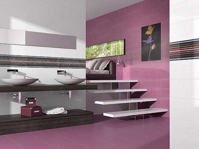 Ligne 20x60 for Carrelage salle de bain violet