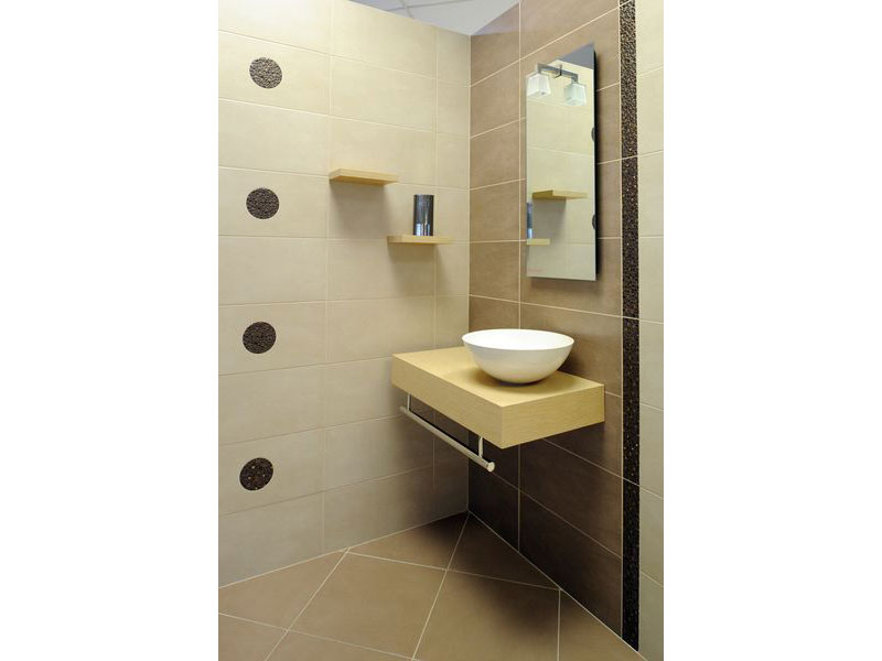 Carrelage marron salle de bain awesome carrelage for Showroom salle de bain carrelage
