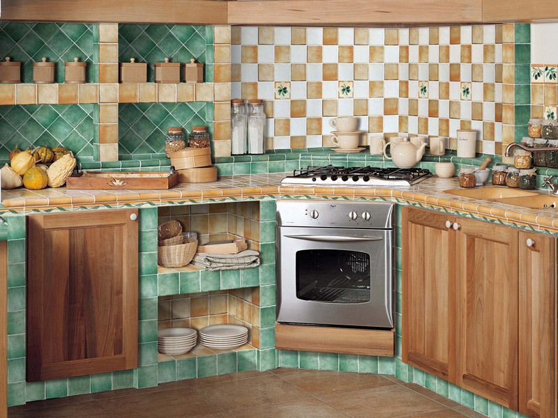 carrelage cuisine rustique. Black Bedroom Furniture Sets. Home Design Ideas